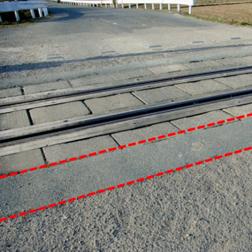 踏切の補修工事